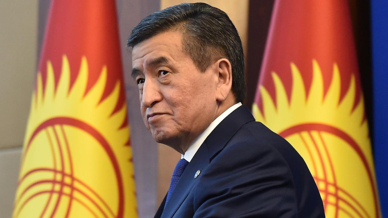 Le président du Kirghizistan, Sooronbay Jeenbekov,