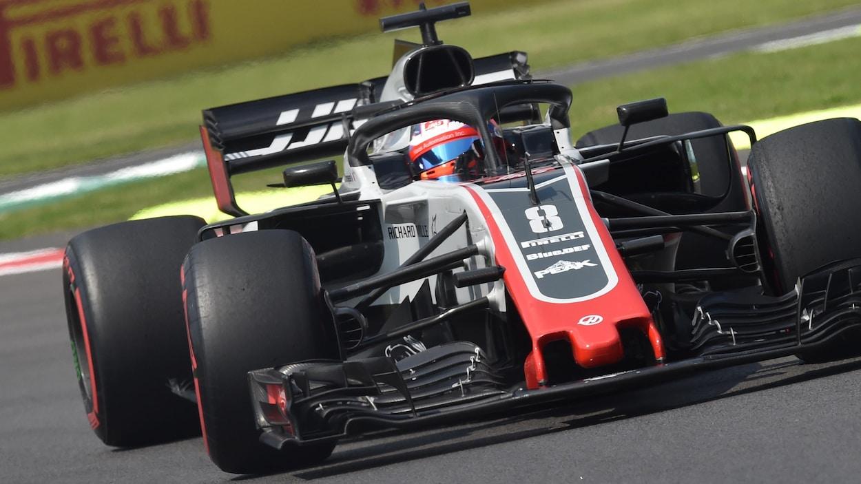 Romain Grosjean sur le circuit de Monza