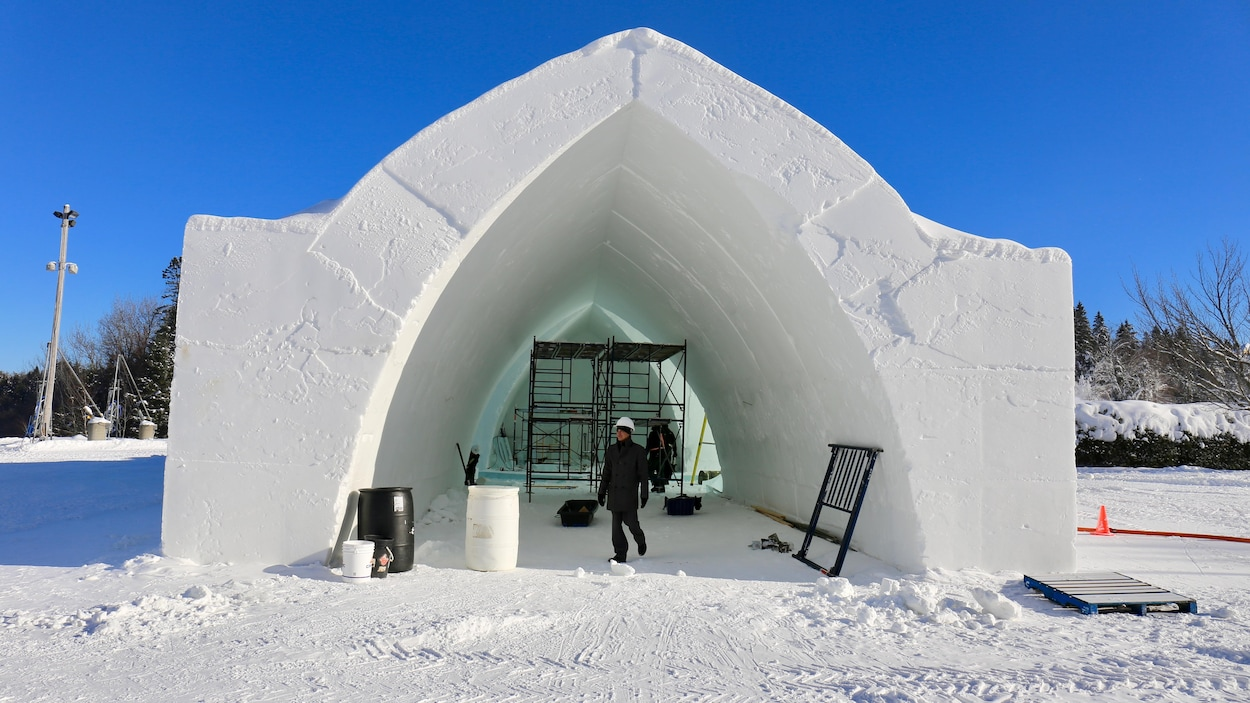 L'Hôtel de glace ouvrira ses portes le 3 janvier.