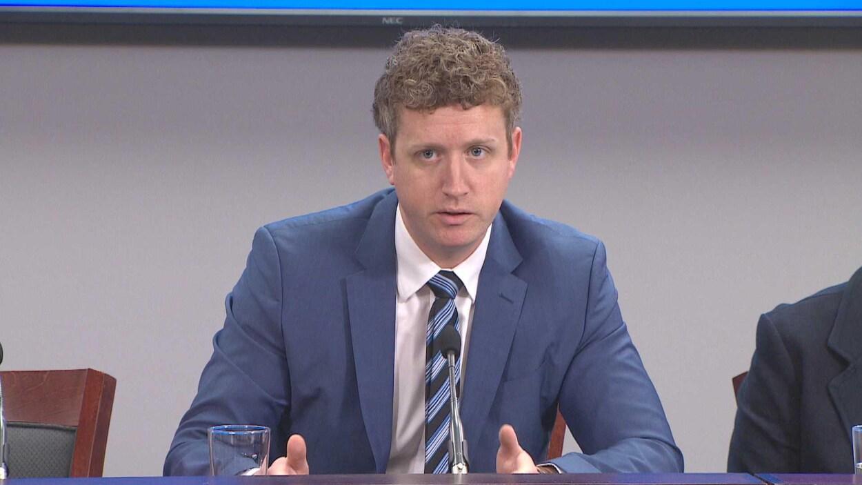 Iain Rankin en conférence de presse le 3 décembre 2018.