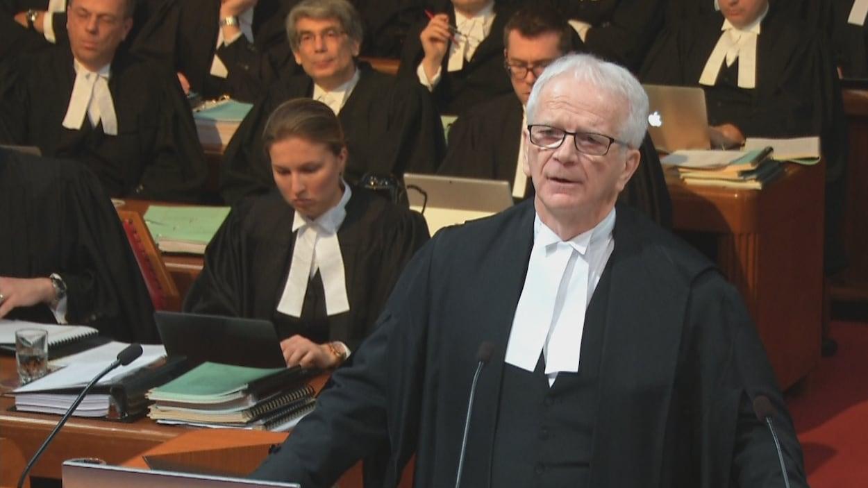 Ian Blue est un des avocats qui représente Gérard Comeau, devant la Cour suprême du Canada