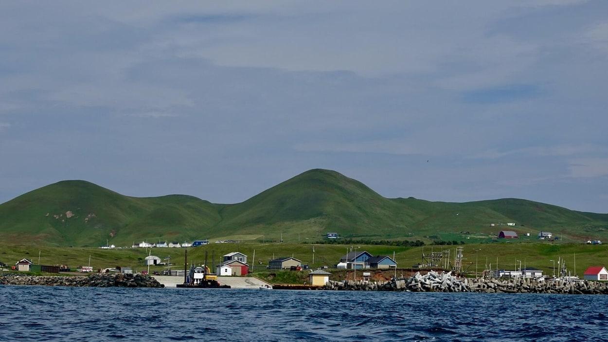 Un paysage de l'île d'Entrée.