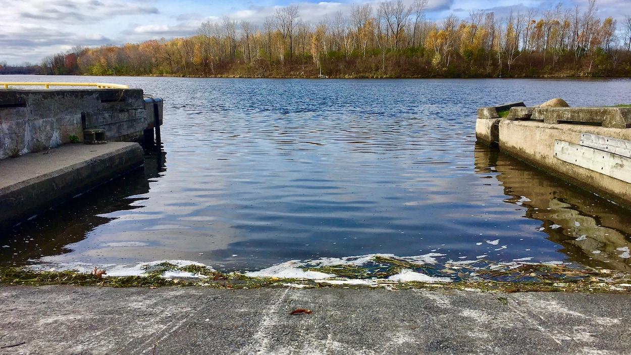 Une descente de bateau avec une vue sur l'île Hamilton