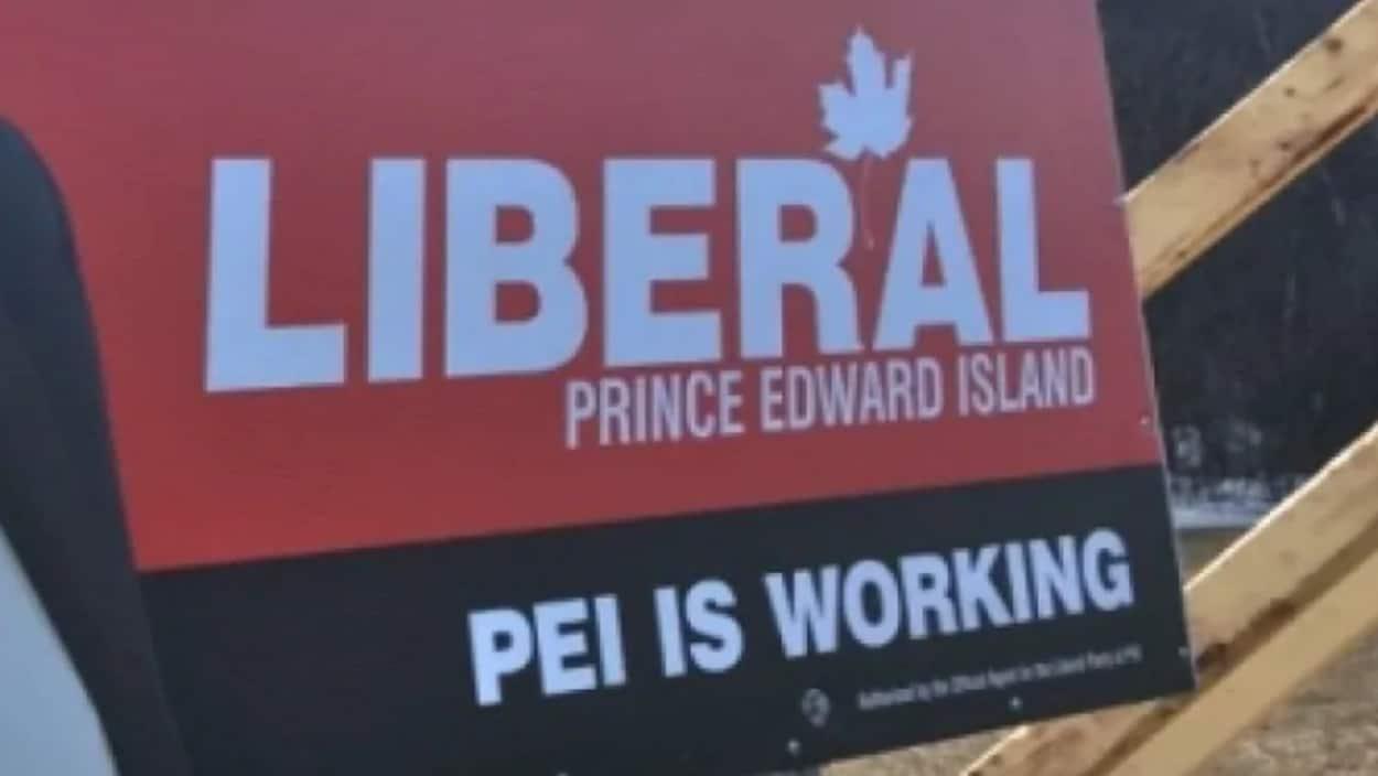 Une affiche du Parti libéral.