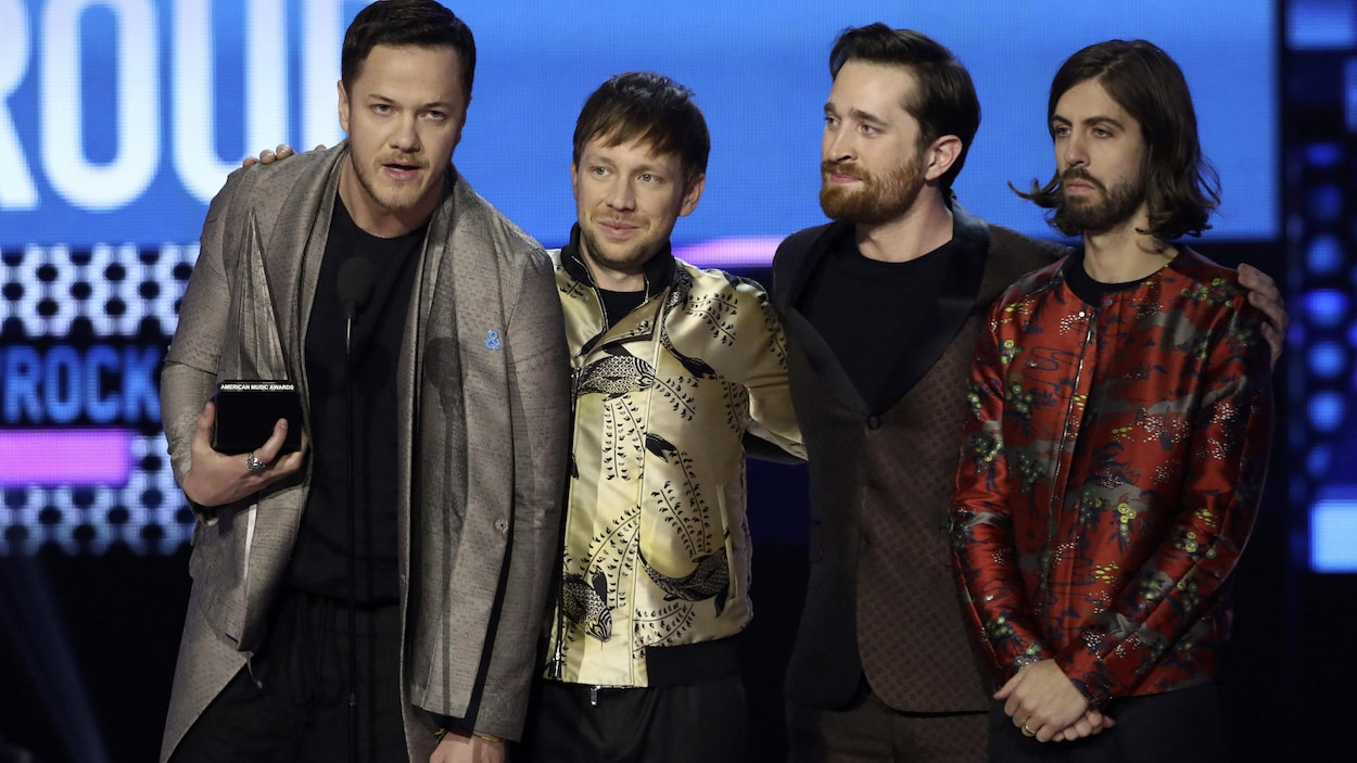 Dan Reynolds, Ben McKee, Daniel Platzman, Daniel Wayne Sermon du groupe Imagine Dragons