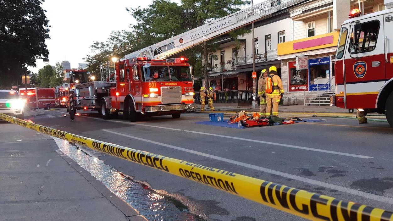 Incendie au 853, 3e Avenue, dans le quartier Limoilou