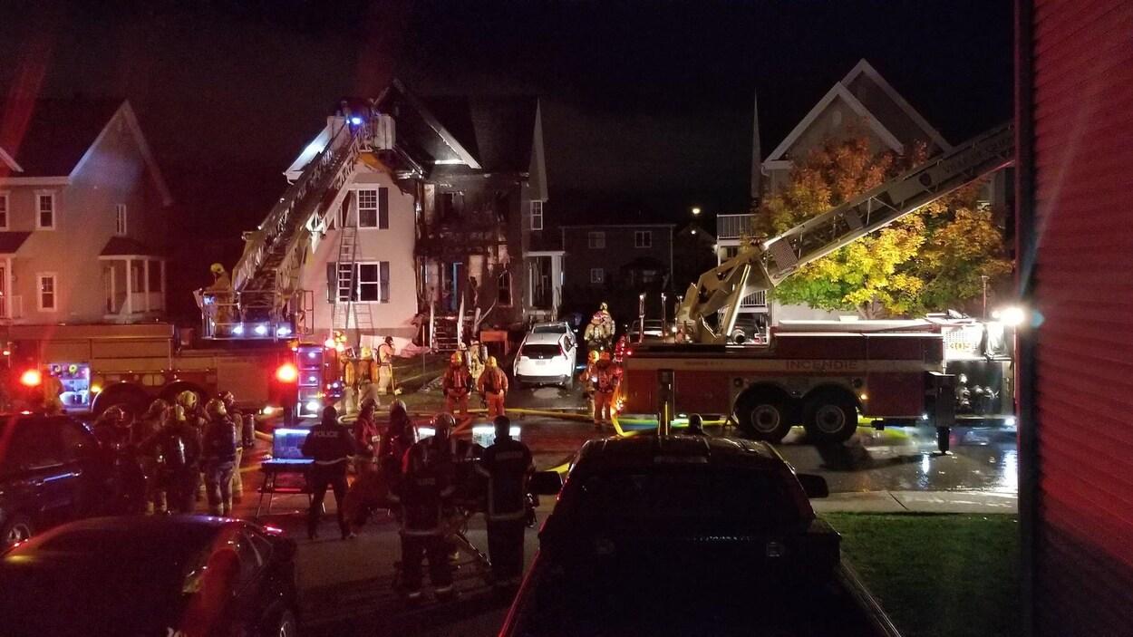 L'incendie est survenue au 3484, des Géraniums.