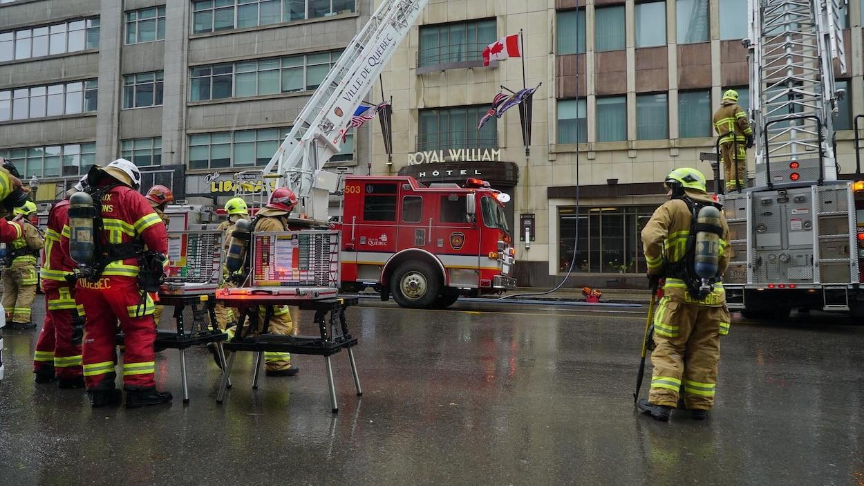 Incendie dans un immeuble du boulevard Charest à Québec