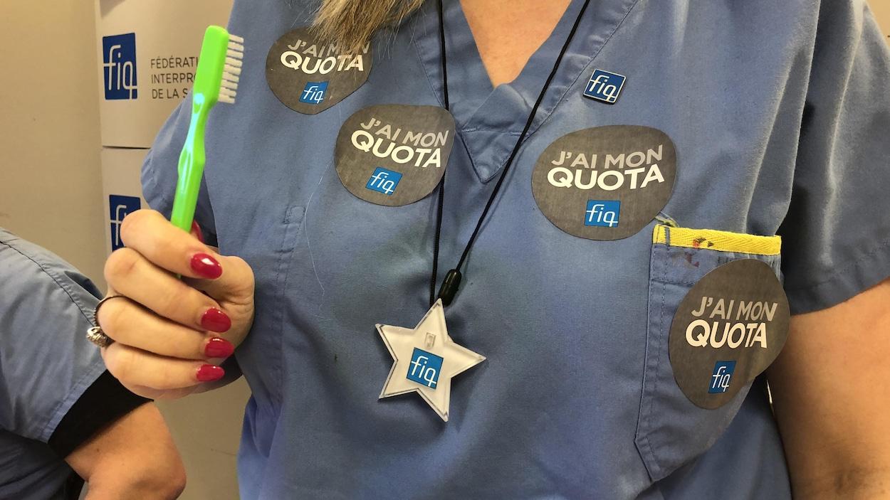 De nouveaux moyens de pression pour les infirmières dans Chaudière-Appalaches.