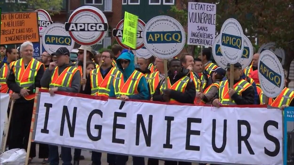 Les ingénieurs du gouvernement sont en grève depuis le 24 mai.