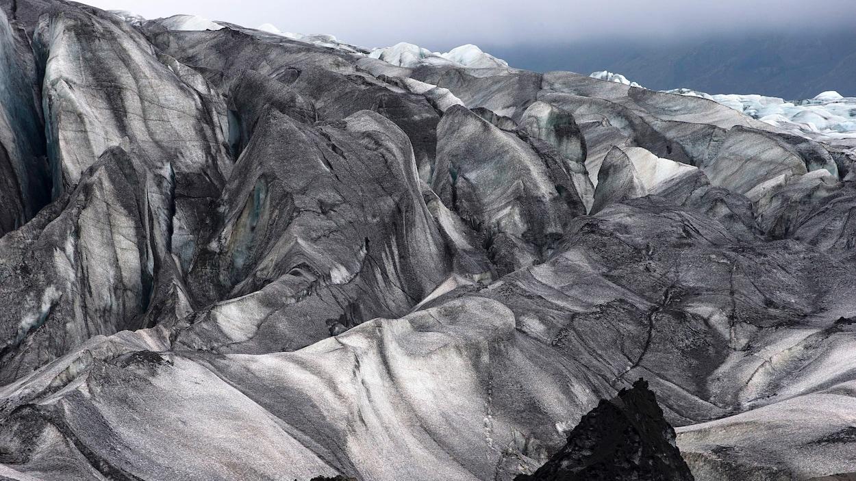 Paysage de glaciers en Islande.