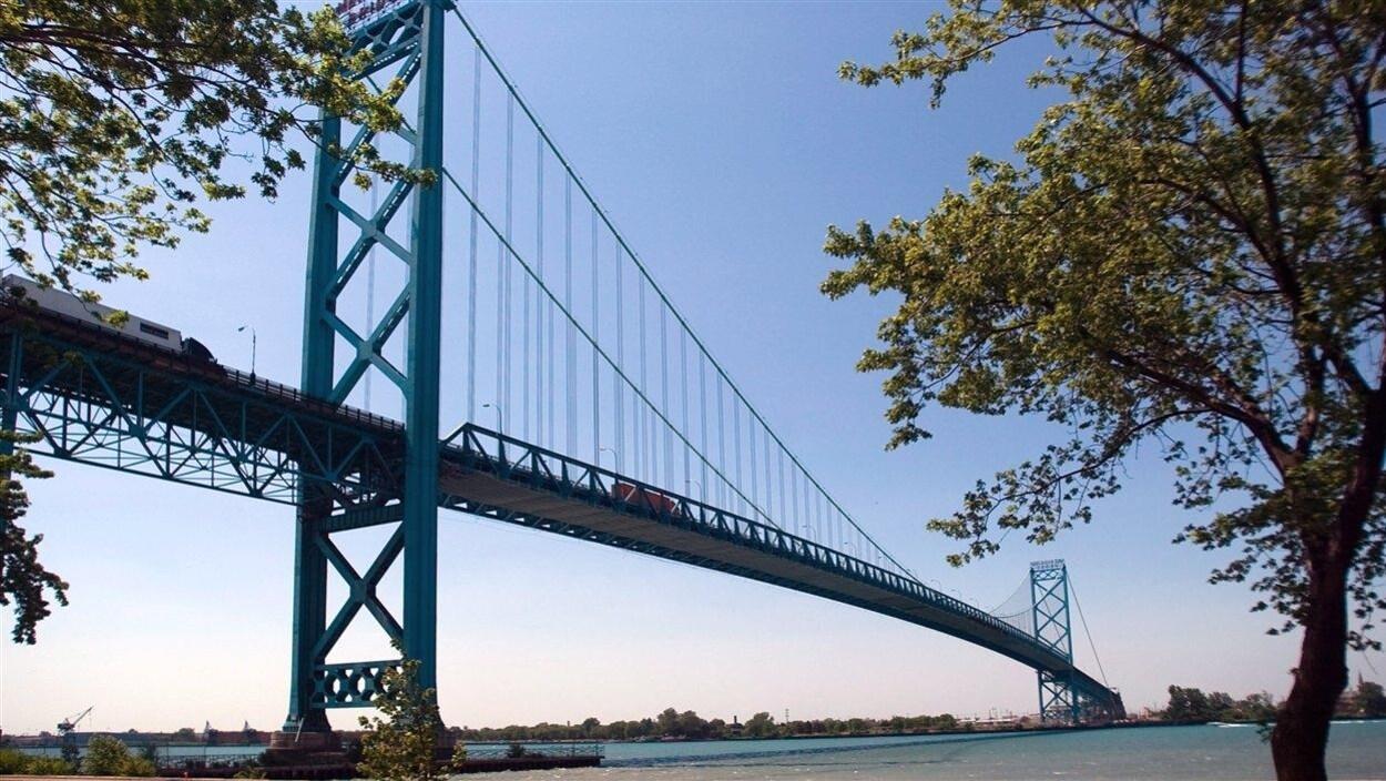 Le pont Ambassador, reliant Windsor et Détroit.