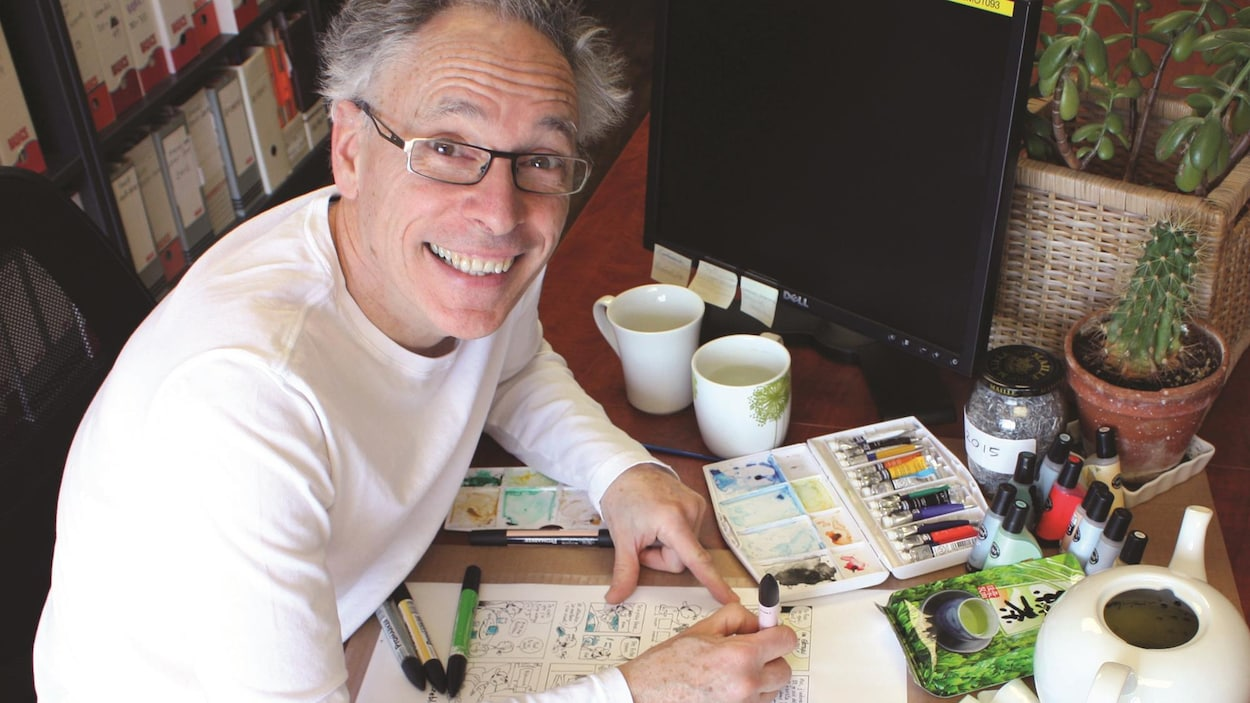 L'auteur et illustrateur Jacques Goldstyn