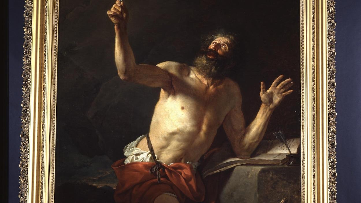 Saint-Jérome entendant la trompette du jugement dernier, un tableau de Jacques-Louis David.