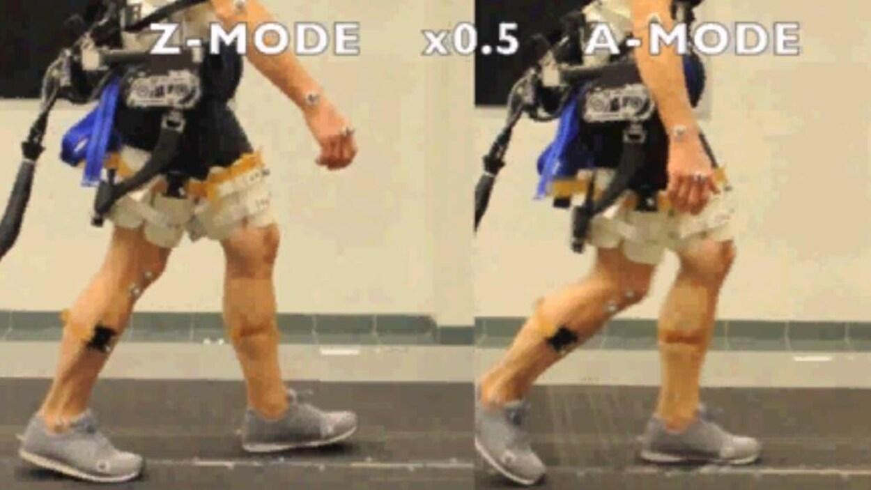 Une dizaine de personne ont participé aux tests des jambes robotisées.