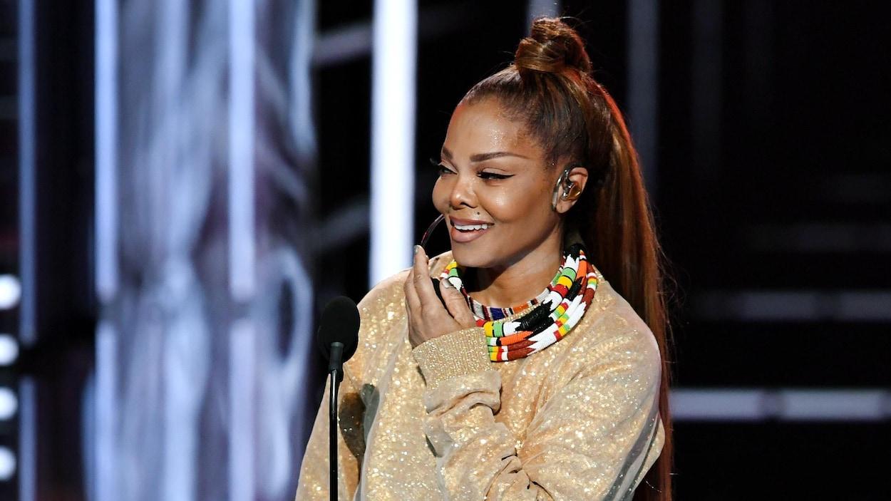 Janet Jackson recevant le prix Icon Award aux Billboard 2018, le 20 mai à Las Vegas