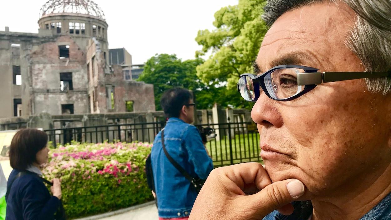 À Hiroshima, en mai 2018, Kosei Mito, un survivant de la bombe atomique.