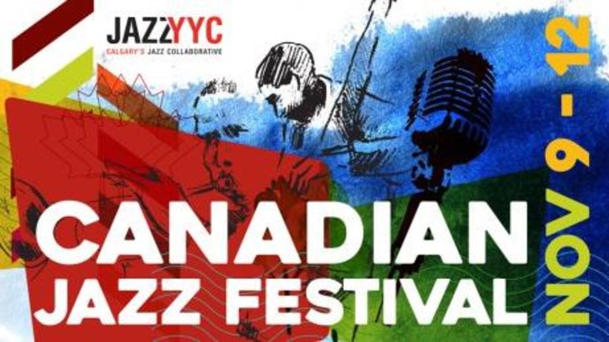 L'affiche du Festival canadien de jazz YYC à Calgary