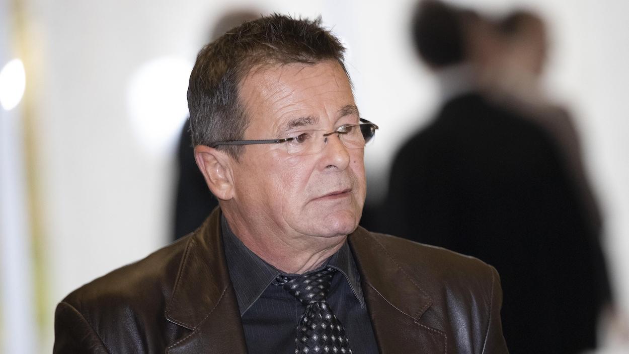 L'ex-maire de Terrebonne Jean-Marc Robitaille au palais de justice de Saint-Jérome, le lundi 7 octobre 2019.