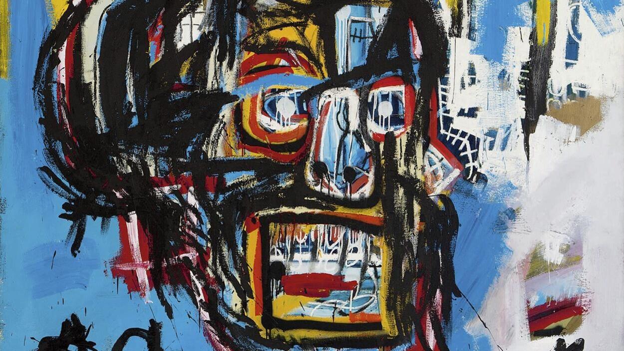 Le tableau de Jean-Michel Basquiat qui a été adjugé pour une somme de 110,5 millions de dollars américains, le 18 mai 2017 chez Sotheby's