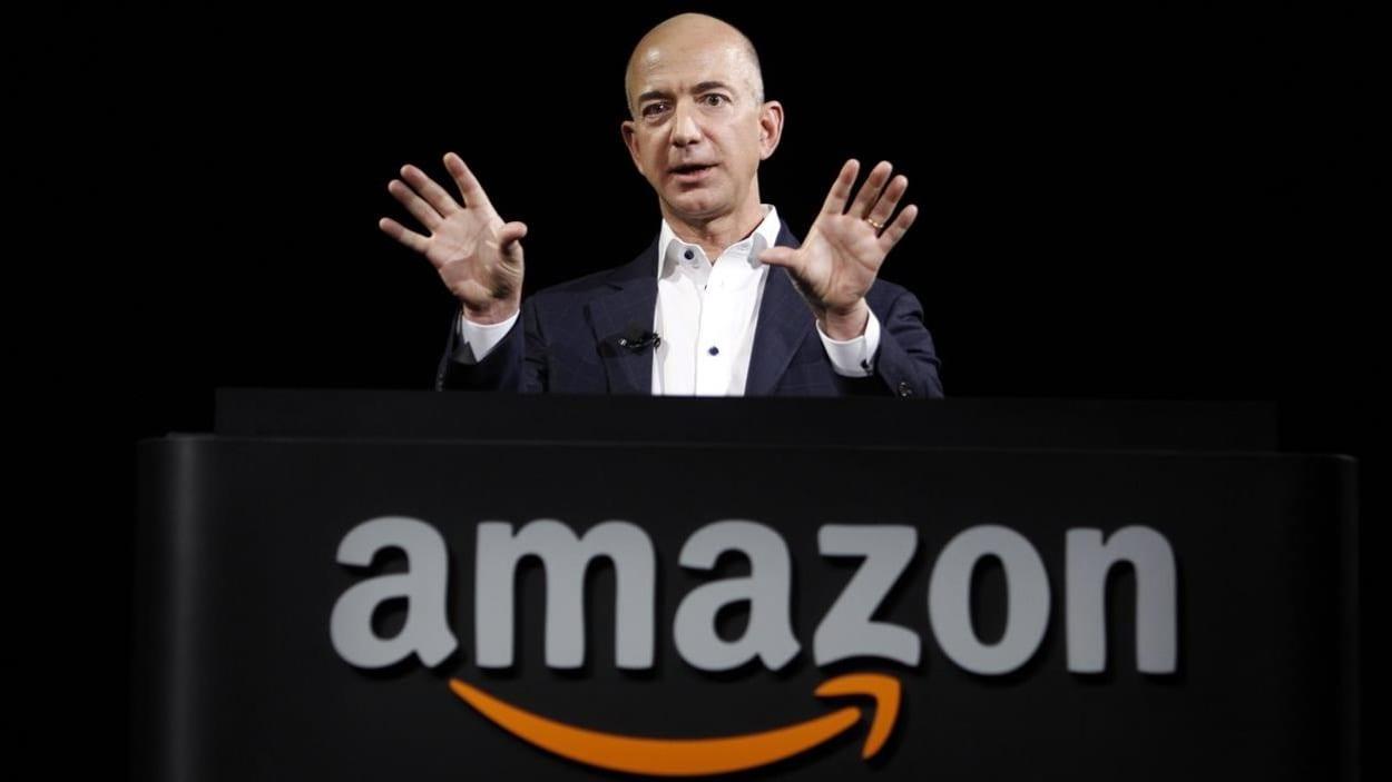 Jeff Bezos, fondateur du groupe de distribution Amazon