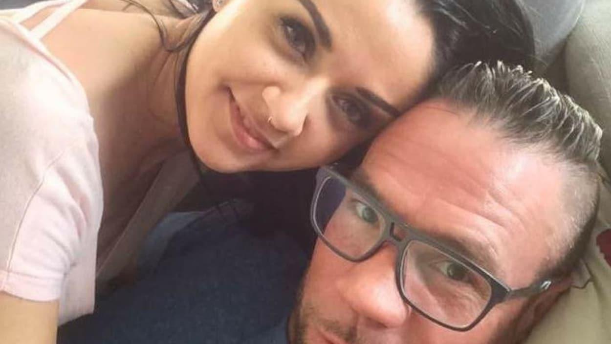 Le boxeur David Whittom avec sa conjointe, Jelena Zerdoner.