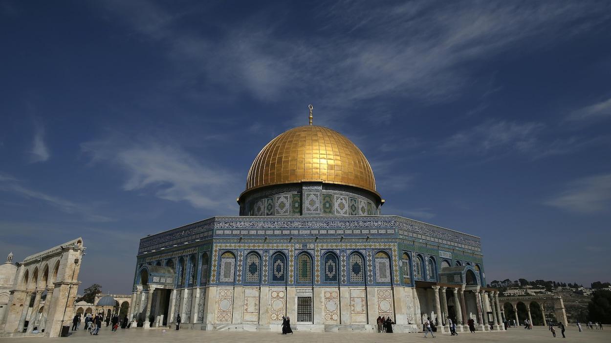 La mosquée Al-Aqsa dans la vieille ville de Jérusalem