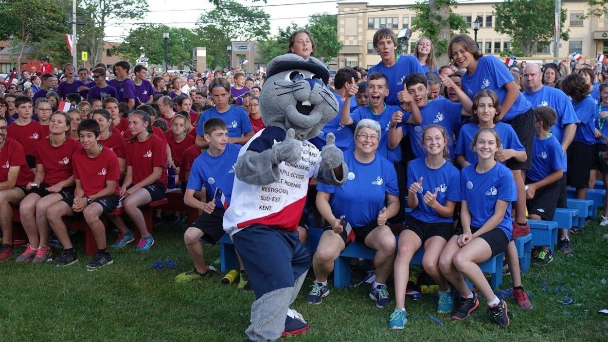 Acajoux aux Jeux de l'Acadie 2016.