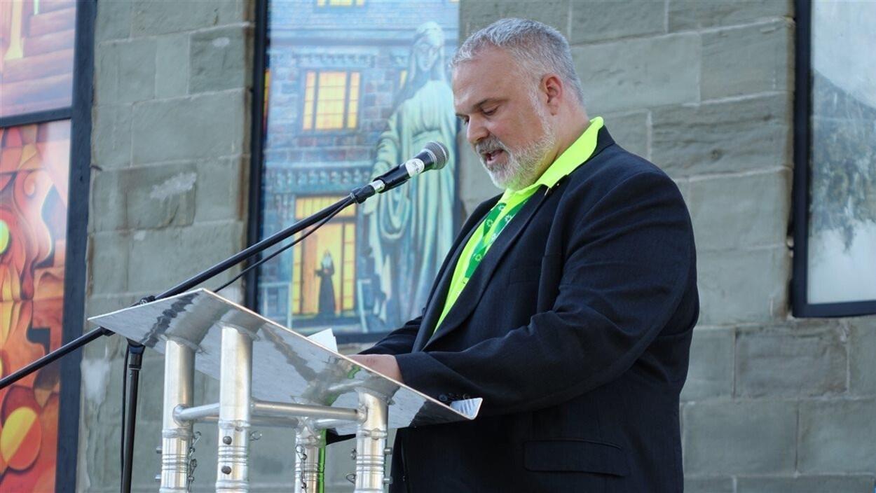 Le maire de Caraquet, Kevin Haché
