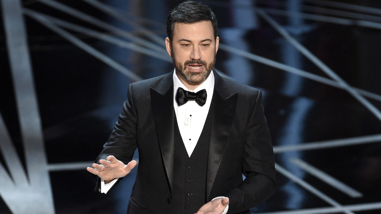 L'animateur de la 89e cérémonie des Oscars, Jimmy Kimmel
