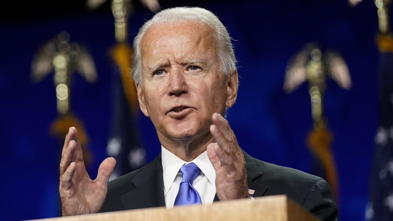 Joe Biden en gros plan