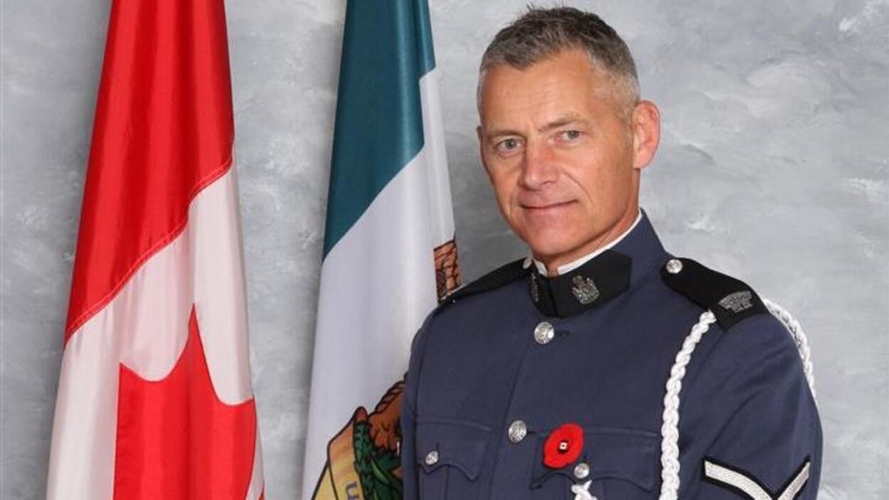Photo officelle du sergent John Davidson de la police d'Abbottsford qui est décédé en service le 6 novembre 2017.