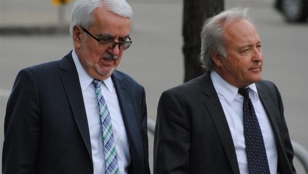 Le juge Michel Girouard (à droite)