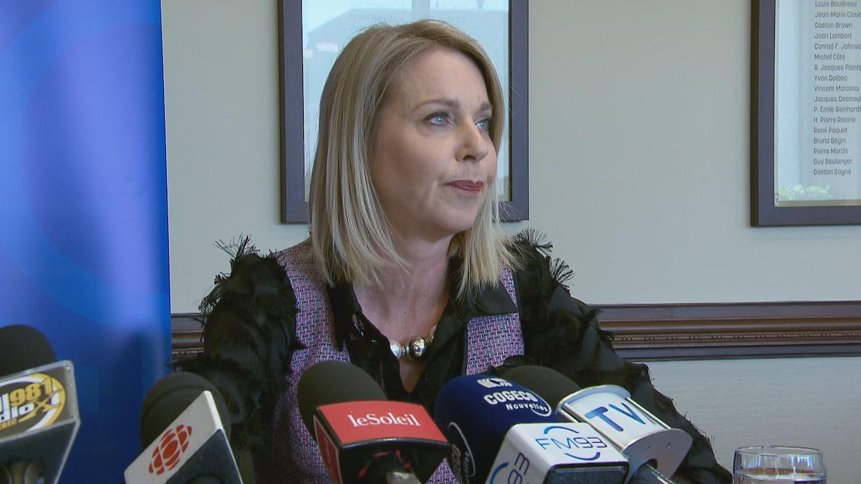 La présidente de la Chambre de commerce et d'industrie de Québec, Julie Bédard.