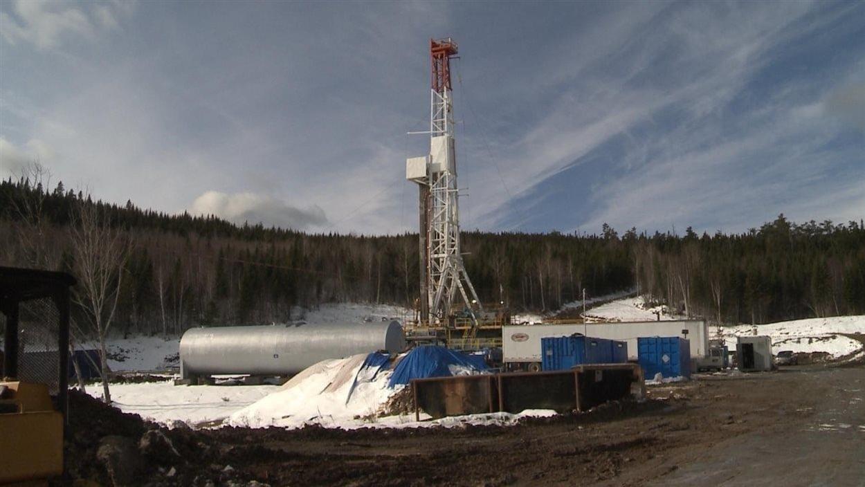 Le puits Galt numéro 4 situé à une vingtaine de kilomètres de Gaspé.