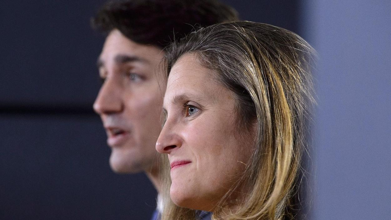Justin Trudeau et Chrystia Freeland.