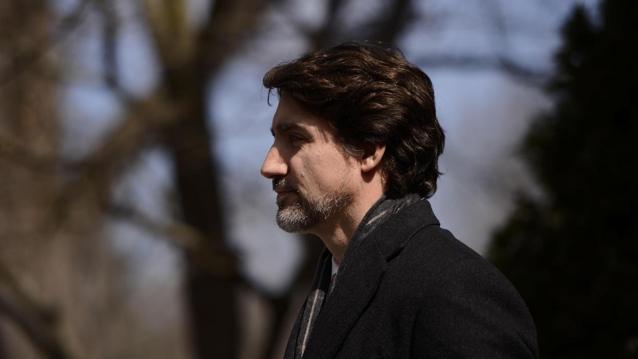 Justin Trudeau de profil.