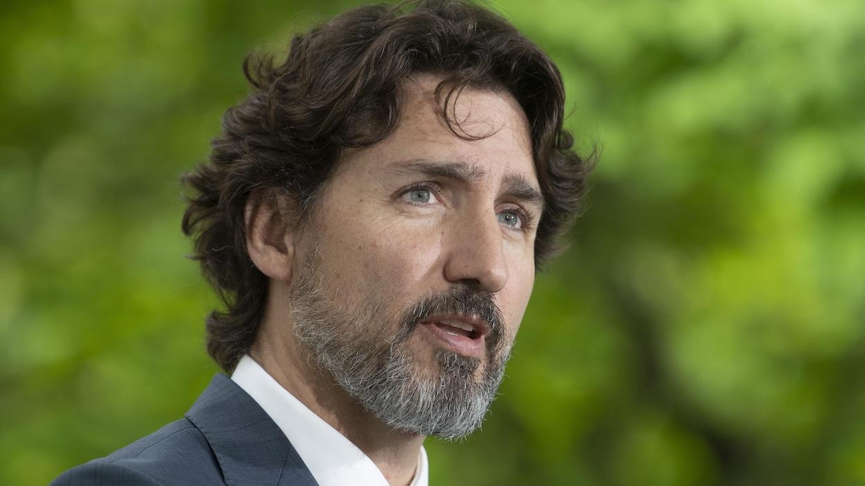 Gros plan du premier ministre Justin Trudeau.