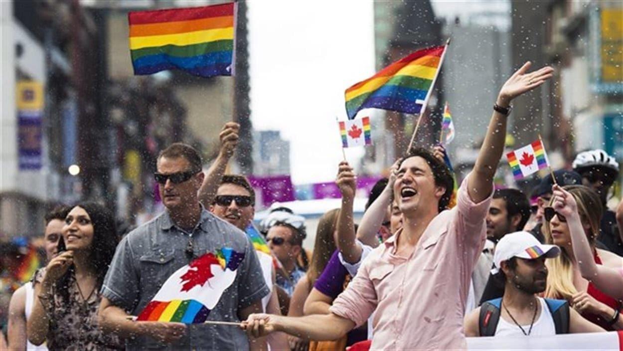 Justin Trudeau au défilé de la fierté gaie à Toronto en 2016