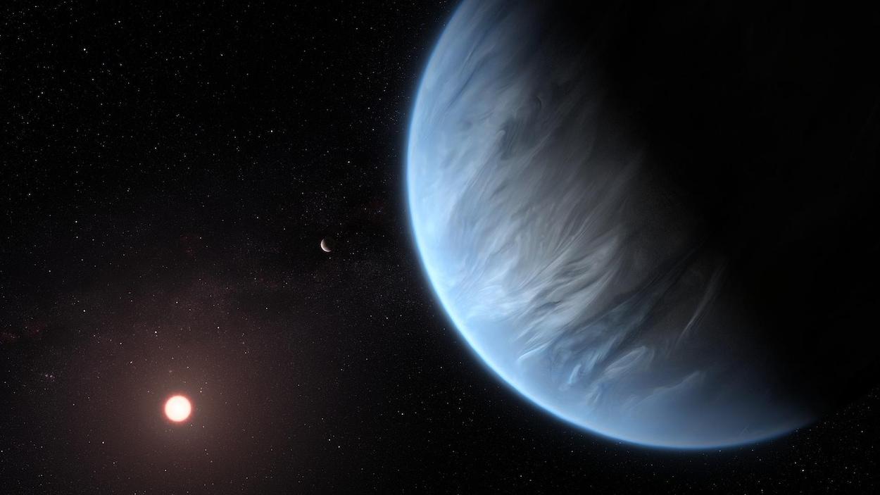 Impression artistique de la planète K2-18b.