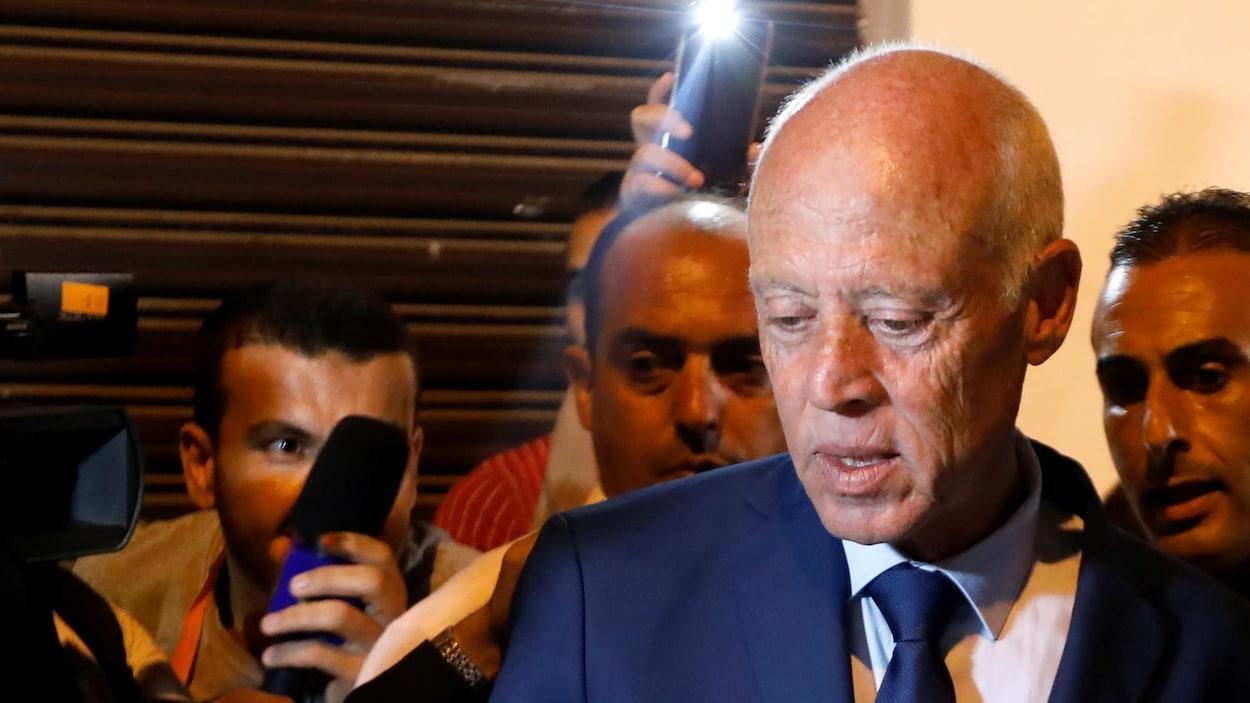 Le candidat à la présidentielle Kaïs Saied.