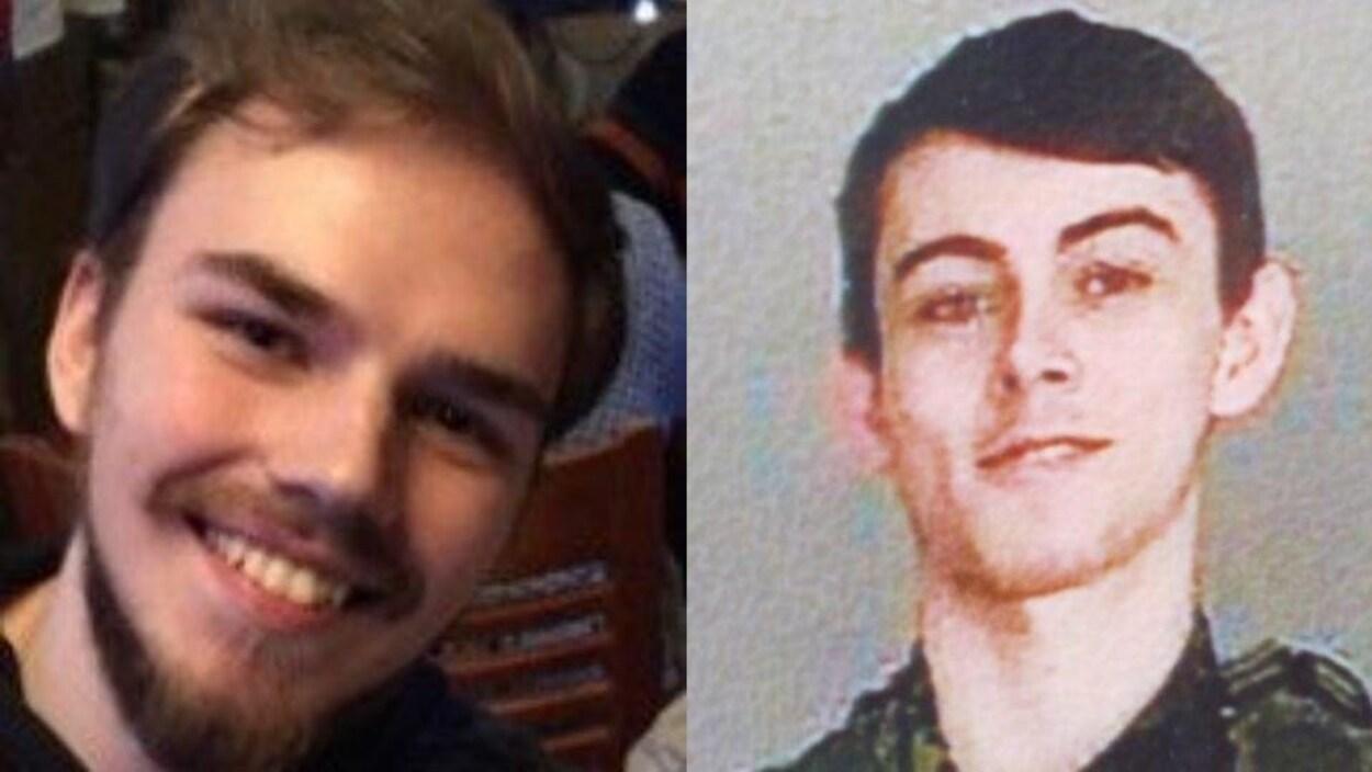 Photos de deux jeunes hommes.