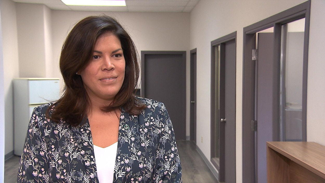 Kateri Jourdain en entrevue à Radio-Canada.
