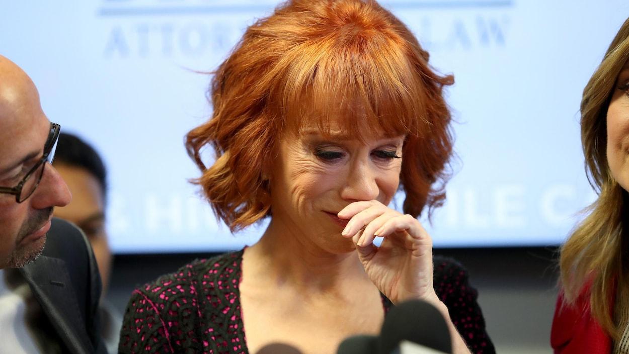 L'humoriste Kathy Griffin en conférence de presse vendredi à Los Angeles