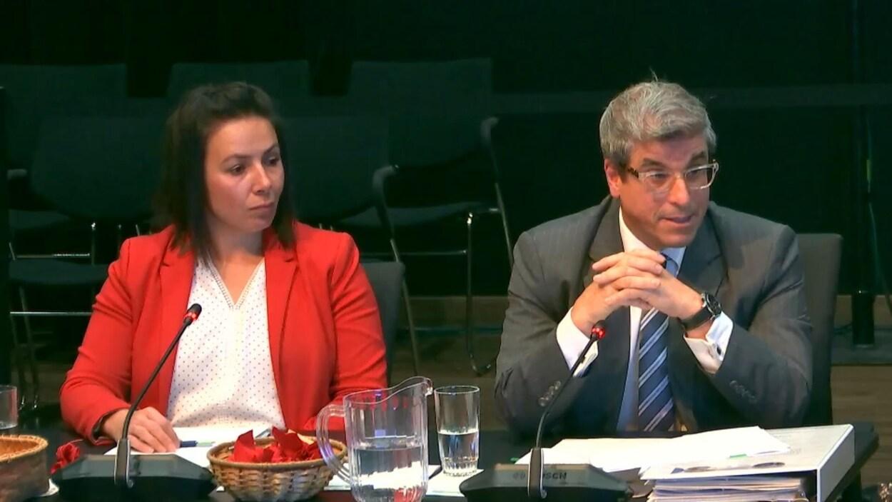 Katia Petit, Directrice générale des affaires ministérielles; Louis Morneau, Sous-ministre adjoint aux affaires policières, ministère de la Sécurité publique