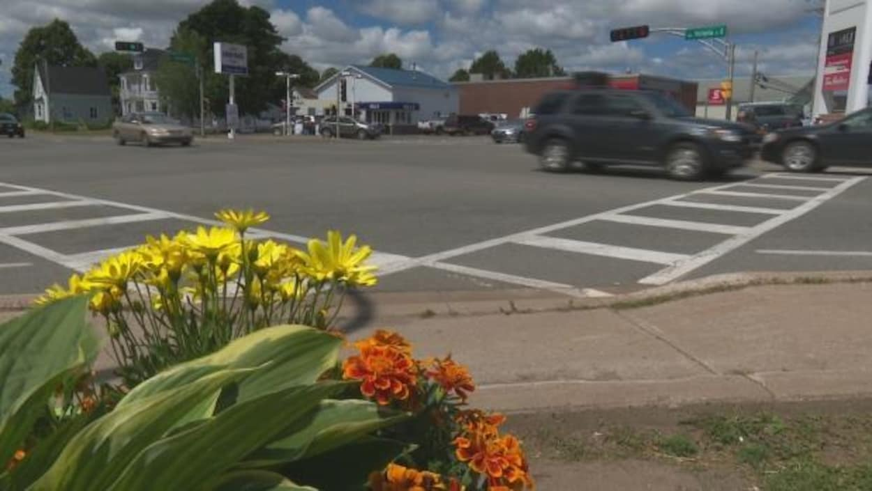 L'intersection principale de la municipalité de Kensington, à l'Île-du-Prince-Édouard.
