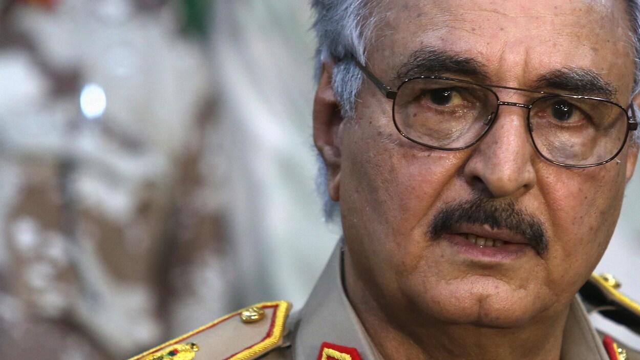 Le général Khalifa Haftar, chef de l'Armée nationale libyenne depuis 2015.