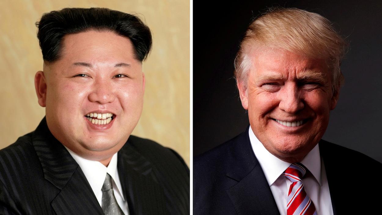Le dirigeant nord-coréen Kim Jong-un et le président américain Donald Trump