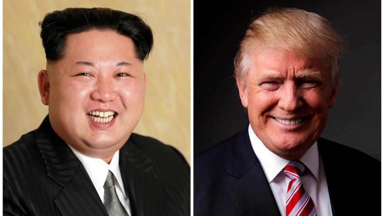 Le président nord-coréen Kim Jong-un et le président des États-Unis Donald Trump.