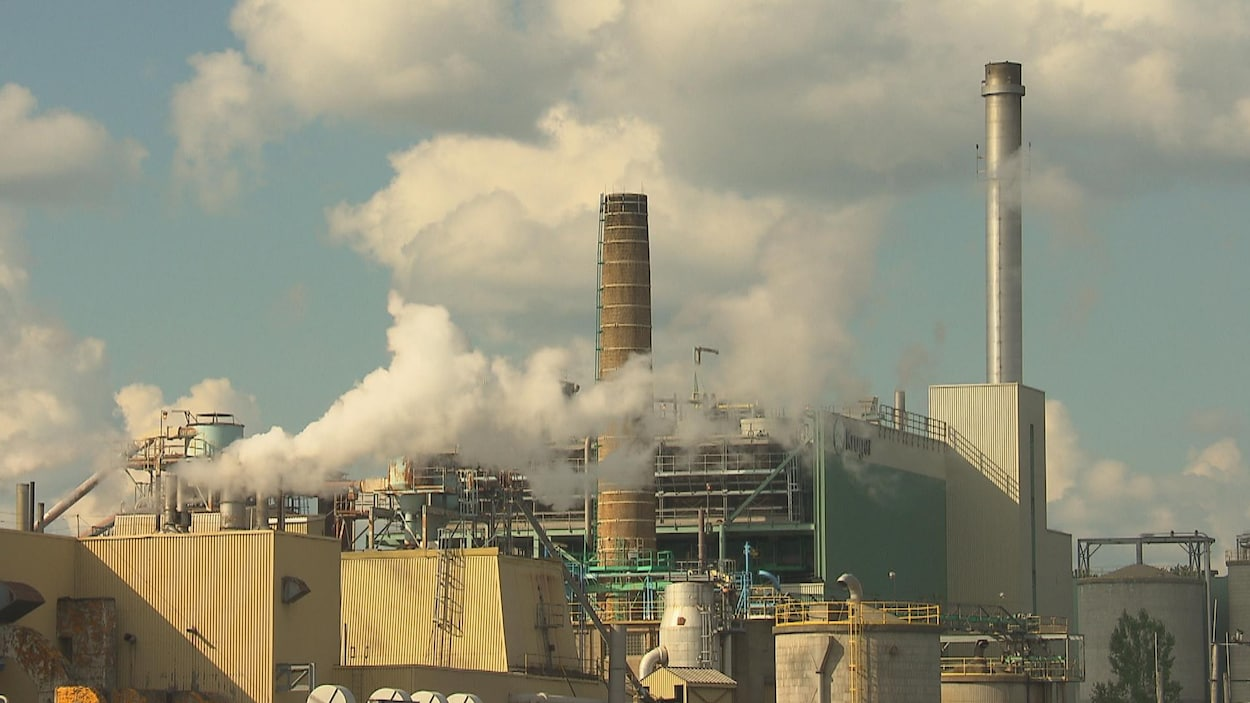 L'usine de Kruger Sherbrooke, située dans l'arrondissement de Brompton.